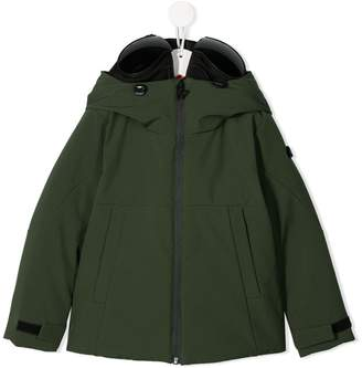 AI Riders On The Storm hooded parka coat
