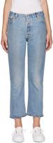 RE/DONE Blue No Destruction Jeans