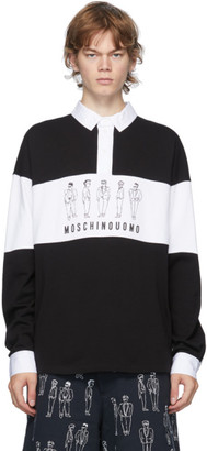 Moschino Black and White Fantasy Print Polo