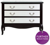 New Elysee Wide 3 Drawer Chest - Mirrored Front