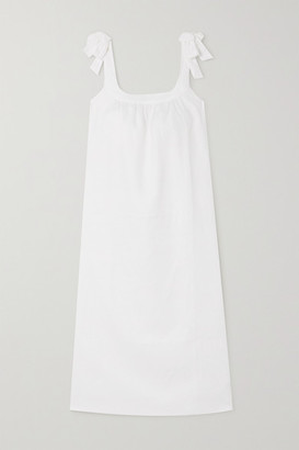 Reformation Bronte Tie-detailed Linen Midi Dress - White