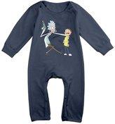 Kra8er Kids Rick And Morty Baby Bodysuit Unisex Boys Girls 100% Cotton Long Leg Onesies 6 M