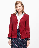 Brooks Brothers Wool-Blend V-Neck Cardigan