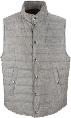 Brunello Cucinelli Cotton Lightweight Down Vest