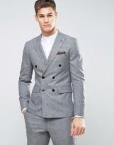 Reiss Slim Suit Jacket In Salt N Pepper
