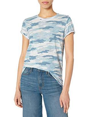 Lucky Brand Women's Short Sleeve Scoop Neck Camo Print Tee
