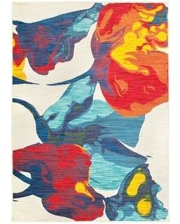 StyleHaven Joyful Bold Abstract Art Floral Multicolor Area Rug
