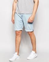 Pull&bear Denim Shorts In Light Blue