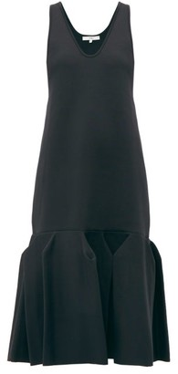 Tibi Godet-hem Jersey Midi Dress - Navy