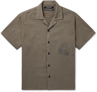 Reese Cooper Camp-Collar Printed Brushed Cotton-Twill Shirt