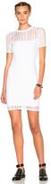 Alexander Wang Jacquard Short Sleeve Dress