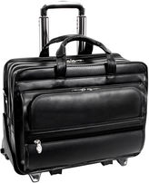 McKlein Franklin 17 Leather Detachable Wheeled Laptop Case