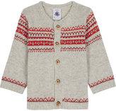 Petit Bateau Jaquard wool-blend cardigan 3-36 months