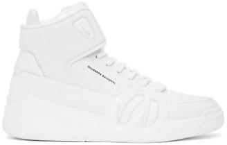Giuseppe Zanotti White Jupiter Talon High Top Sneakers