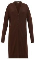 Jil Sander Longline Wool Cardigan - Womens - Brown