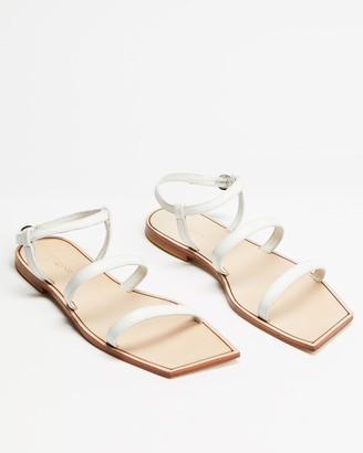 Tony Bianco Women's White Flat Sandals - Reiki - Size 8 at The Iconic