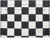 Givenchy Black & White Check Card Holder