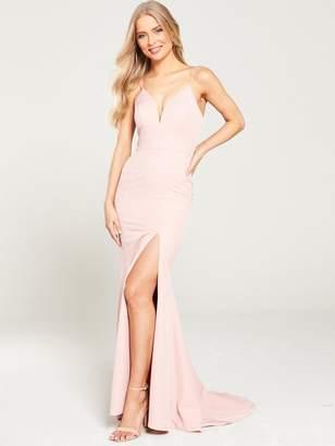 Jarlo Anya Cami Strap Maxi with Thigh Split - Pink
