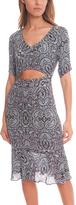 Charlotte Ronson Paisley Print Midriff Dress