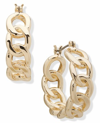 Chaps Women's Link Clicker Hoop Earrings