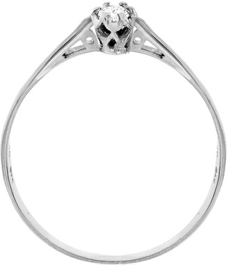 18ct White Gold 10pt Diamond Solitaire Ring