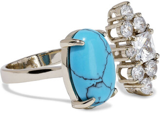 Iosselliani 18-karat Gold-plated, Turquoise And Crystal Ring