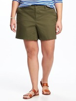 "Old Navy Relaxed Mid-Rise Plus-Size Twill Shorts (7"")"