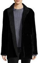 Theory Clairene Coat Light Merino Coat, Black