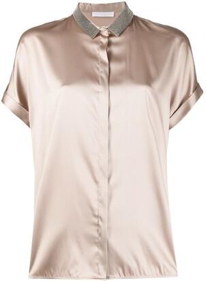 Fabiana Filippi Crystal Collar Shirt