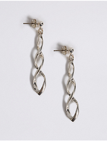 M&S Collection Silver Plated Sparkle Swirl Earrings