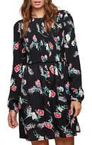 Miss Selfridge Floral Shirred Smock Dress, Multi