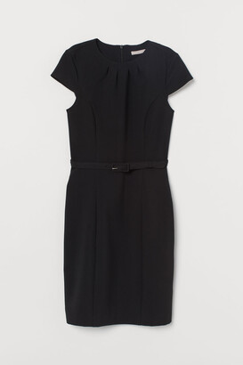 H&M Dress with Belt - Black
