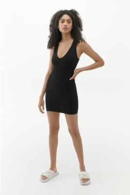 Urban Outfitters Josie Seamless Mini Dress - Black M/L at
