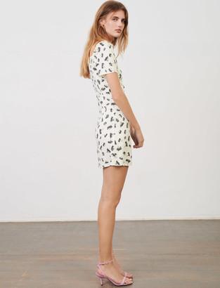 Maje Printed jacquard dress