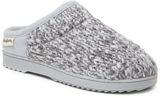 Dearfoams Marled Sparkle Knit Clog Slippers