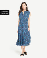 Ann Taylor Morning Glory Button Down Shirtdress