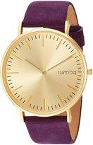 RumbaTime Women's 26092 Suede Analog Display Japanese Quartz Purple Watch