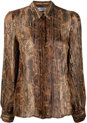 Liu Jo snake print pleated blouse