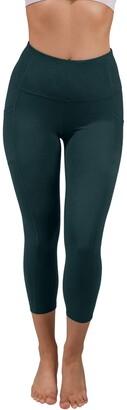 90 Degree By Reflex Lux High Rise Side Pocket Capri Leggings