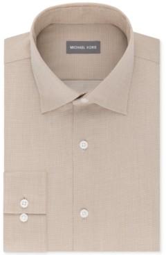 Michael Kors Men's Regular Fit Airsoft Stretch Non-Iron Performance Solid Dress Shirt
