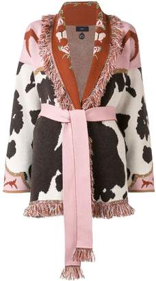 Alanui cow cashmere cardigan