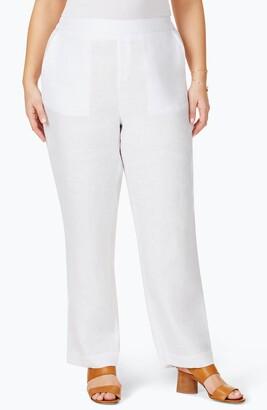 Foxcroft Pull-On Linen Pants