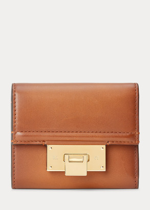 Ralph Lauren Burnished Petite Hinge-Lock Wallet