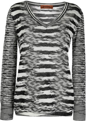 Missoni two-tone V-neck jumper