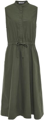 Stateside Gathered Cotton-poplin Midi Dress