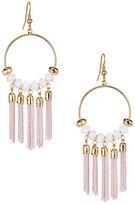Expression Chain Tassel Gypsy Hoop Earrings