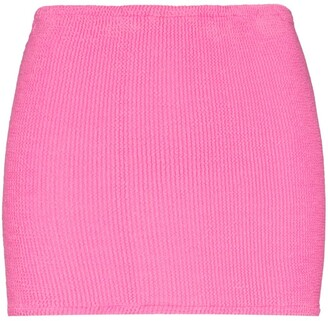 Hunza G Crinkled-Effect Mini Skirt
