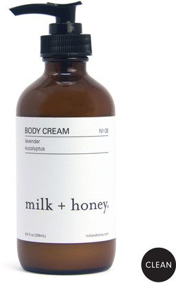 milk + honey Body Cream No.08 (Lavender & Eucalyptus), 8 oz. / 236ml