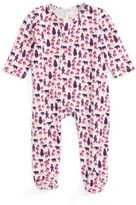 Infant Girl's Egg By Susan Lazar Zipper Footie