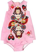 Dolce & Gabbana Queen Of Hearts Cotton Dress